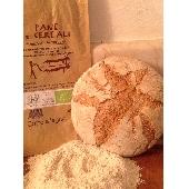 Pane Biologico con Farina  ai 5 Cereali  Cotto a Legna  500 gr.