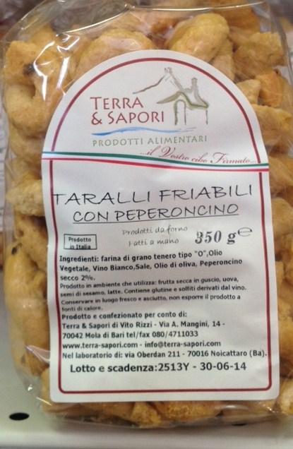 Crispy taralli with chili - Terra dei Sapori