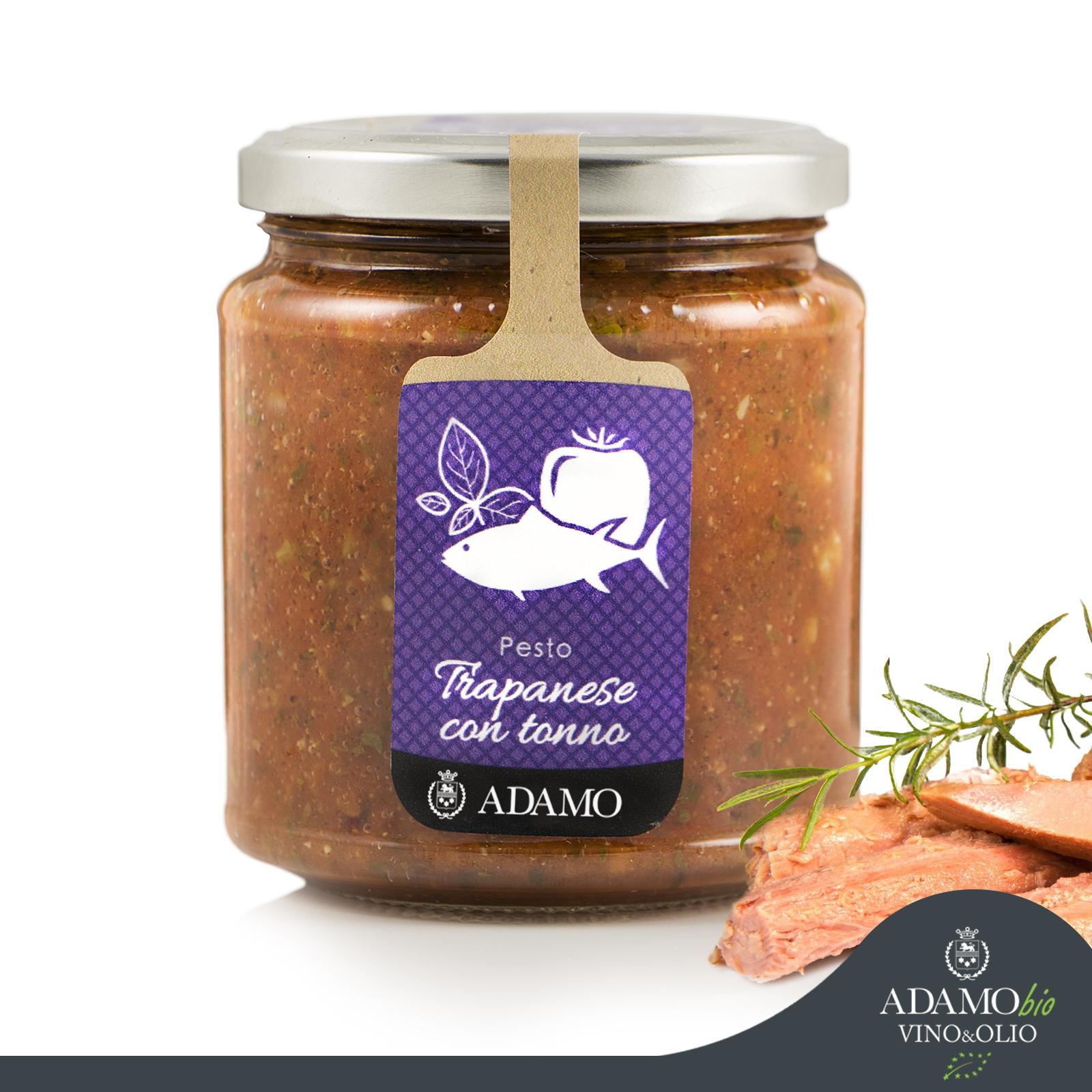 Pesto Trapanese with tuna - Azienda Agricola Biologica Adamo