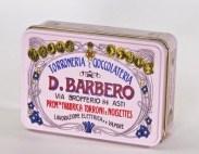 Torroncini bianchi friabili con Nocciole Piemonte I.G.P. - Scatola di Metallo rosa - Torronificio Barbero