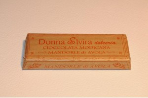 Modican Chocolate with Almonds from Avola -  Donna Elvira Dolceria