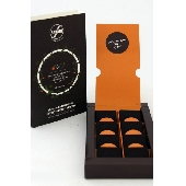 8 small tablets of traditional Modica chocolate with Ciaculli late mandarin zest and wild fennel